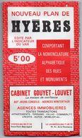 Nouveau Plan De Hyères Avec Nomenclature Alphabétique Des Rues Et Monuments - Dépliant - Publicité - Dépliants Touristiques