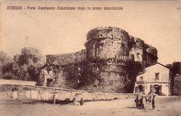AVENZA-CARRARA-FORTE CASTRUCCIO CASTRACANE-PRIMA DELLA DEMOLIZIONE-CARTOLINA VIAGGIATA IL 10-9-1914 - Carrara