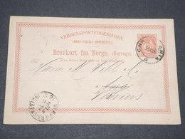 NORVEGE - Entier 10 Ore Pour Verviers Belgique - 1896 - P 22583 - Entiers Postaux