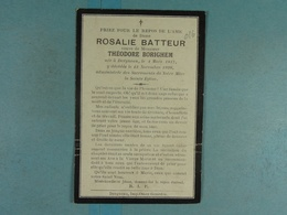Rosalie Batteur Vve Borighem Dergneau 1817 1920 /016/ - Images Religieuses