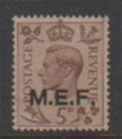 Italy-Occupied Colonies-British Occupation S 10 1943-47 British Stamps Overprinted MEF, Mint - British Occ. MEF