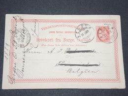 NORVEGE - Entier 10 Ore Pour La Belgique - 1890 - P 22586 - Entiers Postaux