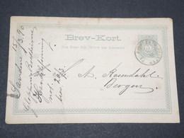 NORVEGE - Entier 5 Ore Pour Bergen - 1890 - P 22587 - Entiers Postaux