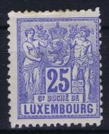 Luxembourg : Mi Nr 52A MH/* Flz/ Charniere Perfo 12.50 * 12 - 1882 Allegorie