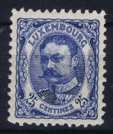 Luxembourg : Mi Nr 76 MH/* Flz/ Charniere 1906 - 1906 Wilhelm IV.
