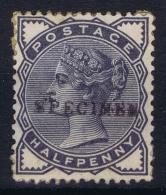 Great Britain SG  187 S Specimen Overprint MH/* Flz/ Charniere Paper On Back - 1840-1901 (Viktoria)