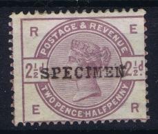 Great Britain SG 190 S Specimen Overprint MH/* Flz/ Charniere - 1840-1901 (Viktoria)