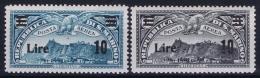 San Marino Sa 19 + 20 MH/* Flz/ Charniere  1942 - Posta Aerea