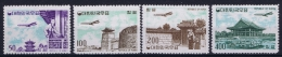 South Korea  Mi Nr 338 - 341 Postfrisch/neuf Sans Charniere /MNH/**  1961 Airmail Yv A 22 - 25 - Korea, South