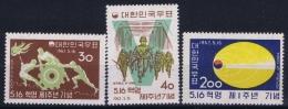 South Korea  Mi Nr 347A - 349A  Postfrisch/neuf Sans Charniere /MNH/**  1962 - Korea, South