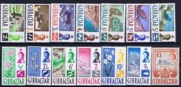 Gibraltar , SG 160 - 173 Postfrisch/neuf Sans Charniere /MNH/** Mi 149 - 162 1960 Some Discolering In Gum Lower Values - Gibraltar