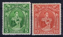 VenezuelaMi Nr 93 + 94 MH/* Flz/ Charniere 1914 - Venezuela