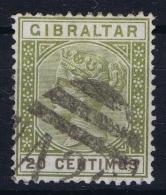 Gibraltar SG Nr 25  Mi 30a  Used 1889 - Gibraltar