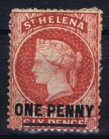 St Helena SG Nr 27  P 14 MH/* Flz/ Charniere 1880 - Sainte-Hélène