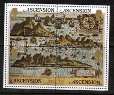 ASCENSION   Scott # 289** VF MINT NH SHEETLET. Of 4 LG-460 - Ascension