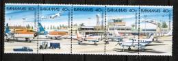 BAHAMAS   Scott # 634a-e** VF MINT NH SE-TENNANT STRIP Of 5 LG-461 - Bahamas (1973-...)