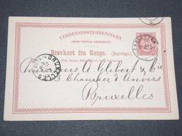 NORVEGE - Entier 10 Ore Pour Bruxelles - 1886 - P 22589 - Entiers Postaux