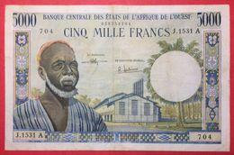 N°61 1 BILLET 5000 Frs DE COTE D IVOIRE 1965 ( NOTESHOBBY) - Côte D'Ivoire