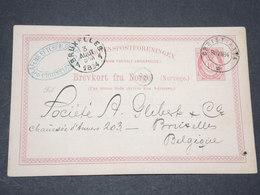 NORVEGE - Entier 10 Ore Pour Bruxelles - 1884 - P 22591 - Entiers Postaux