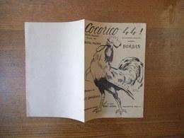 COCORICO 44 ! CHANSON MARCHE CREATION BORDAS PAROLES DE BERTAL-MAUBON MUSIQUE DE LEO DANIDERFF 1944 - Noten & Partituren