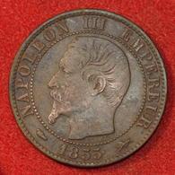 5 Centimes - Napoléon III - 1855 D Chien - France