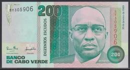 Cabo Verde 200 Escudos 20.01.1989 UNC - Cape Verde