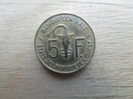 West  Africa  5  Francs  1975  Km 2 - Coins
