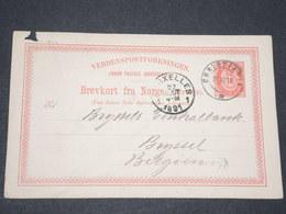 NORVEGE - Entier 10 Ore Pour Bruxelles - 1887 - P 22601 - Entiers Postaux