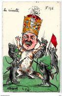 CPA Perse Iran Satirique Caricature Par Molynk Estampe Shah Non Circulé Chat Souris Tirage Limité Très Rare - Satirical