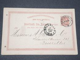 NORVEGE - Entier 10 Ore Pour Bruxelles - 1886 - P 22602 - Entiers Postaux