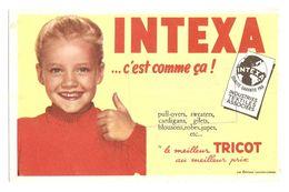 BUVARD VETEMENTS INTEXA - Éts MARTIAL AVENUE LECLERC GIEN LOIRET ( 45 ) - PULL OVER SWEATERS CARDIGANS TRICOT - Textile & Clothing