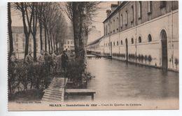 MEAUX (77) - INONDATIONS DE 1920 - COURS DU QUARTIER DE CAVALERIE - Meaux