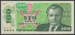 Czechoslovakia 100 Korun 1989 UNC - Czechoslovakia