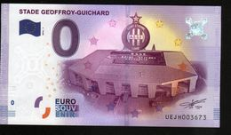 France - Billet Touristique 0 Euro 2016 N°3673 (UEJH3673) - STADE GEOFFROY GUICHARD , SAINT ETIENNE, LOIRE , FOOT-BALL - EURO
