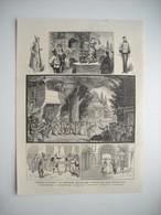GRAVURE 1884. THEATRE DE LA GAITE. LE GRAND MOGOL, OPERA BOUFFE - Stampe & Incisioni