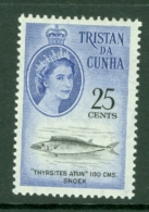 Tristan Da Cunha: 1961   QE II - Marine Life (South African Ccy)   SG52    25c     MNH - Tristan Da Cunha