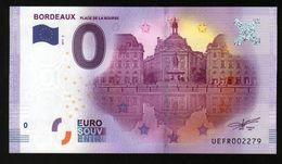 France - Billet Touristique 0 Euro 2017 N°2279 (UEFR2279) - BORDEAUX, PLACE DE LA BOURSE - EURO