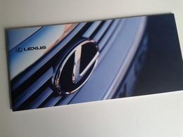 Dep051 Depliant Advertising Auto Car Motore Sport Engine Lexus Lusso Toyota Luxury - Automobili