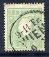 AUSTRIA 1859 3 Kr Type II  Used.  Michel 12 II - 1850-1918 Empire