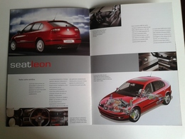 Dep049 Depliant Advertising Gamma Seat Spain Auto Car Motore Sport Engine Leon Ibiza - Automobili
