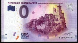 SAN MARIN - Billet Touristique 0 Euro 2015 N°1701 (SEEW1701) - LA PIU PICCOLA E ANTICA REPUBLICA DEL MONDO - EURO