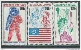 MALI  P. A.  N° 245 / 47 XX Coopération Spatiale U.S.A. - U.R.S.S., Les 3 Valeurs Sans Charnière, TB - Malí (1959-...)