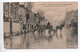 MEAUX (77) - INONDATION DES 25,26, ET 27 JANVIER 1910 - AVENUE DE LA REPUBLIQUE - UN DEMENAGEMENT - Meaux