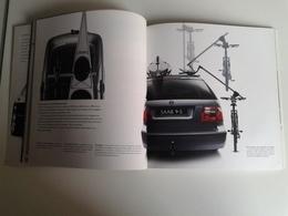 Dep048 Depliant Advertising SAAB 9-5 Station Wagon Auto Car 1999 Dettagli Tecnici Dimensioni Colori Motore Engine - Voitures