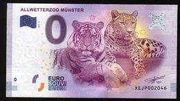 ALLEMAGNE - Billet Touristique 0 Euro 2017 N°2046  (XEJP2046) - ALLWETTERZOO MUNSTER, TIGRE, LEOPARD, FELINS - EURO