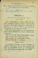 PONTI SUL  MINCIO - DECRETO  UMBERTO I° - TASSE BESTIAME LANUTO- 1883 - Decrees & Laws