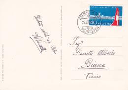 Suisse 1953 : Aéroport De Zürich-Kloten - No 313 Sur Carte Spéciale, Oblitérée Le 1er Jour D'émission - Cote 110.- - Lettres & Documents