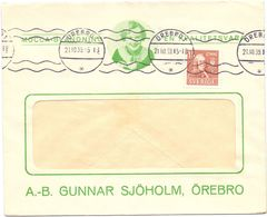 Enveloppe Kuvert - Pub Reklam Gunnar Sjöholm Örebro -  Sverige Suède Zweden 1939 - Postal Stationery