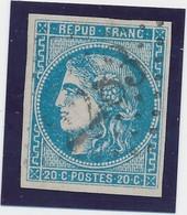 20 C Bleu N° 46 B TB. - 1870 Emission De Bordeaux