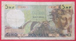 N° 51 1 BILLET DE 5 NF DE L ALGERIE 31 7 59 ( NOTESHOBBY ) - Algeria
